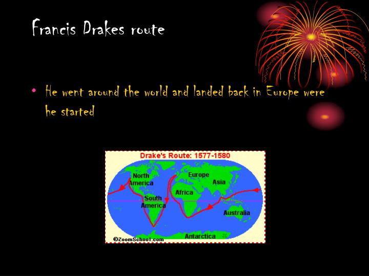 Francis Drakes route
