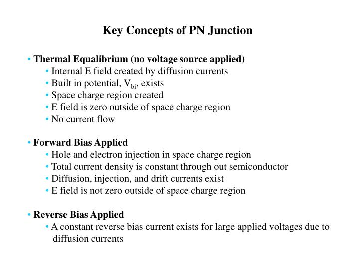 Key Concepts of PN Junction