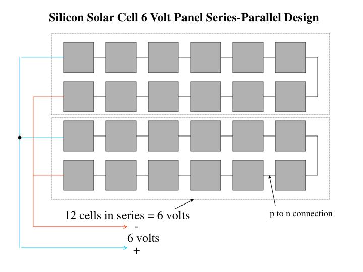 Silicon Solar Cell 6 Volt Panel Series-Parallel Design