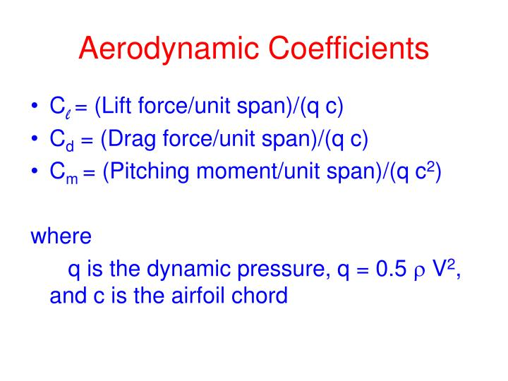 Aerodynamic Coefficients