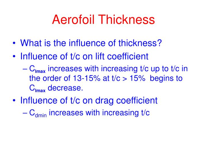 Aerofoil Thickness
