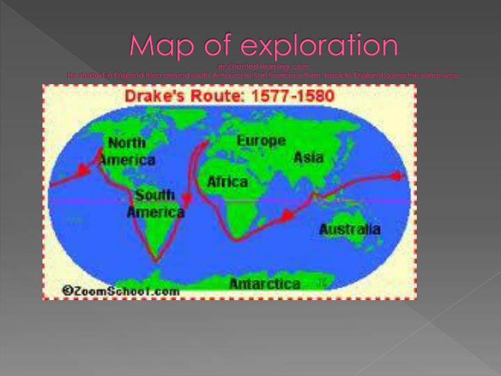 Map of exploration