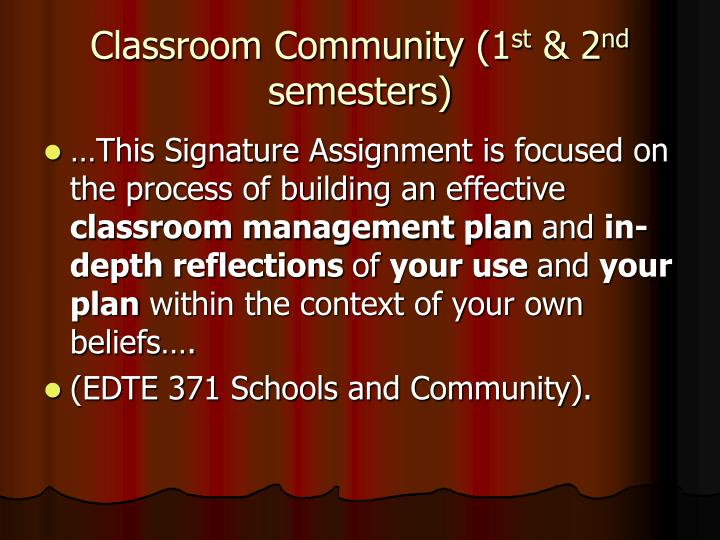 Classroom Community (1