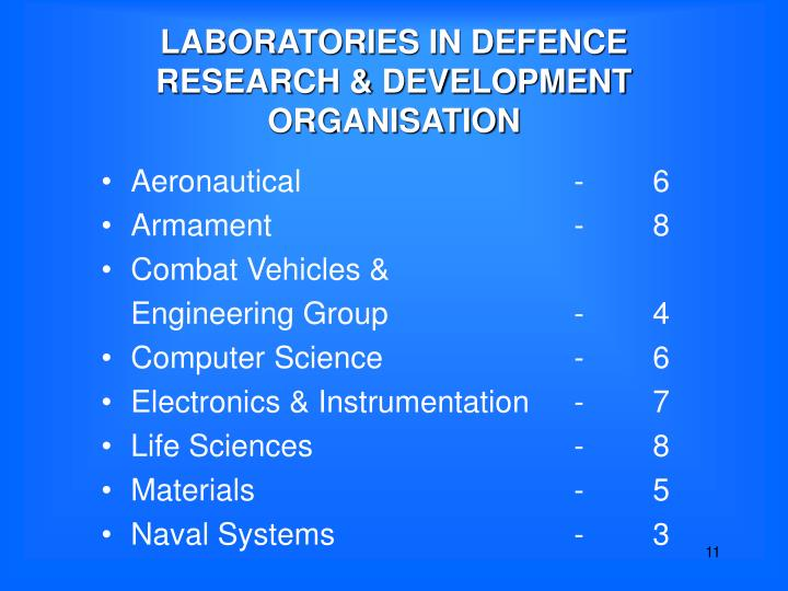 LABORATORIES IN DEFENCE
