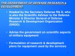 the department of defense research development