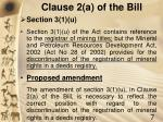 clause 2 a of the bill