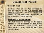 clause 4 of the bill