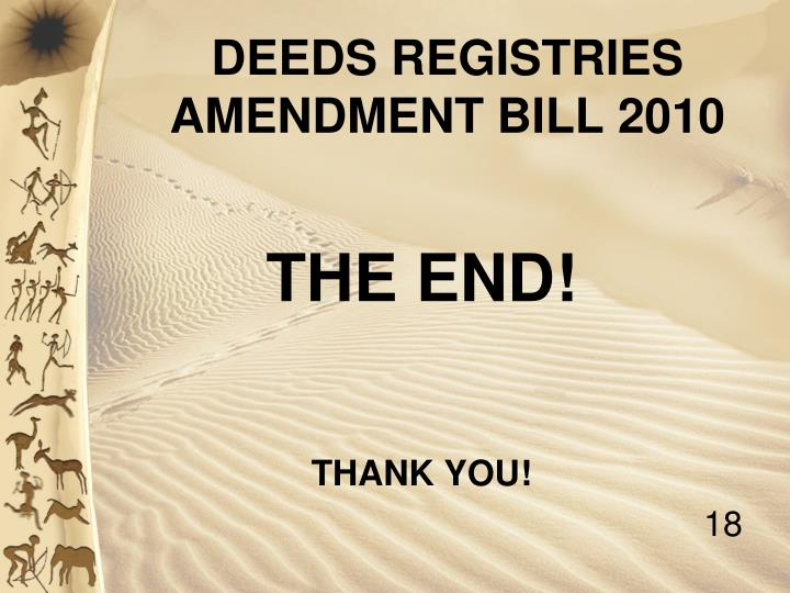 DEEDS REGISTRIES AMENDMENT BILL 2010
