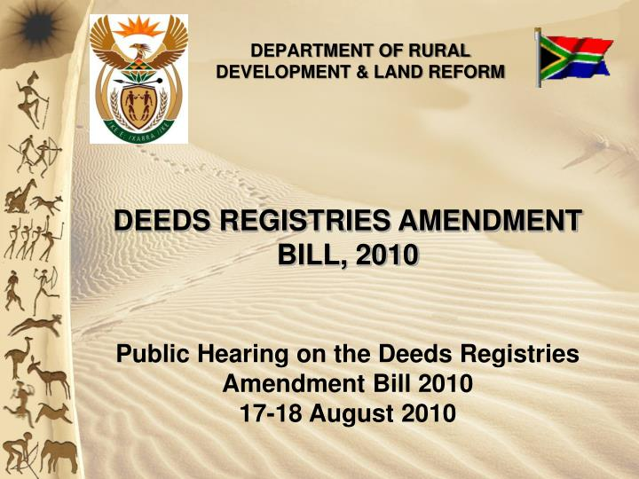 department of rural development land reform