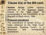 secret clause 2 a of the bill cont