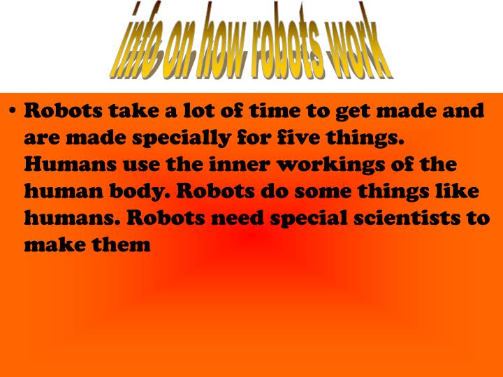 info on how robots work