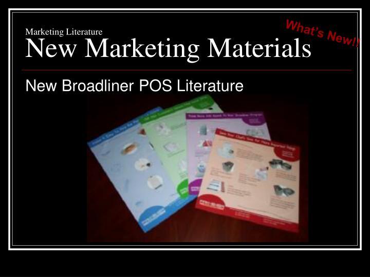 Marketing Literature