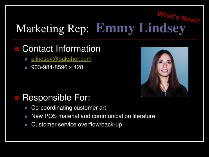 Marketing Rep: