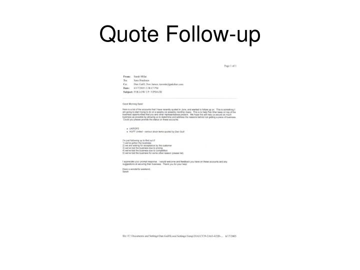 Quote Follow-up
