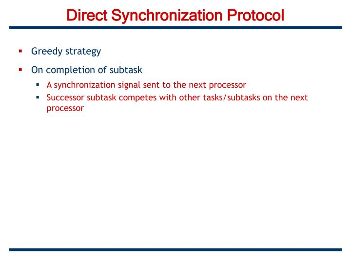 Direct Synchronization Protocol
