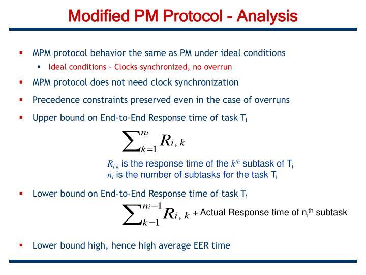 Modified PM Protocol - Analysis