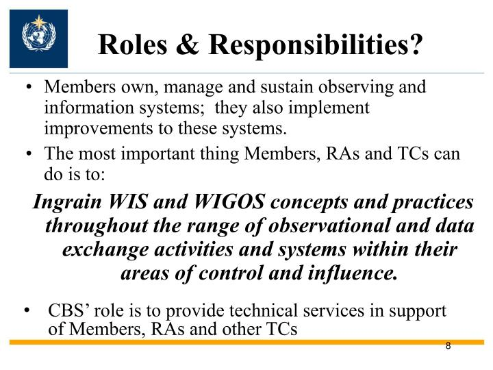 Roles & Responsibilities?