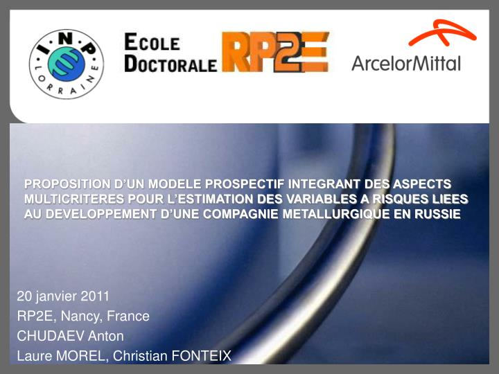 20 janvier 2011 rp2e nancy france chudaev anton laure morel christian fonteix