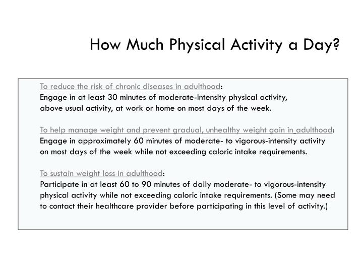 How Much Physical Activity a Day?