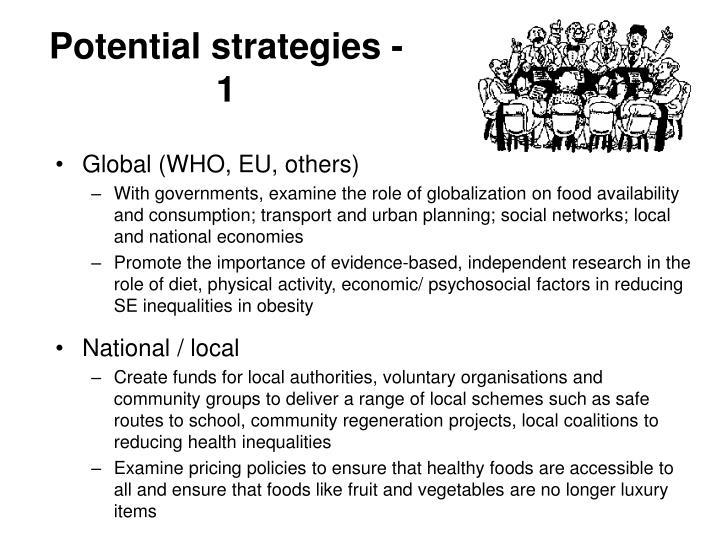 Potential strategies - 1