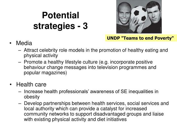 Potential strategies - 3