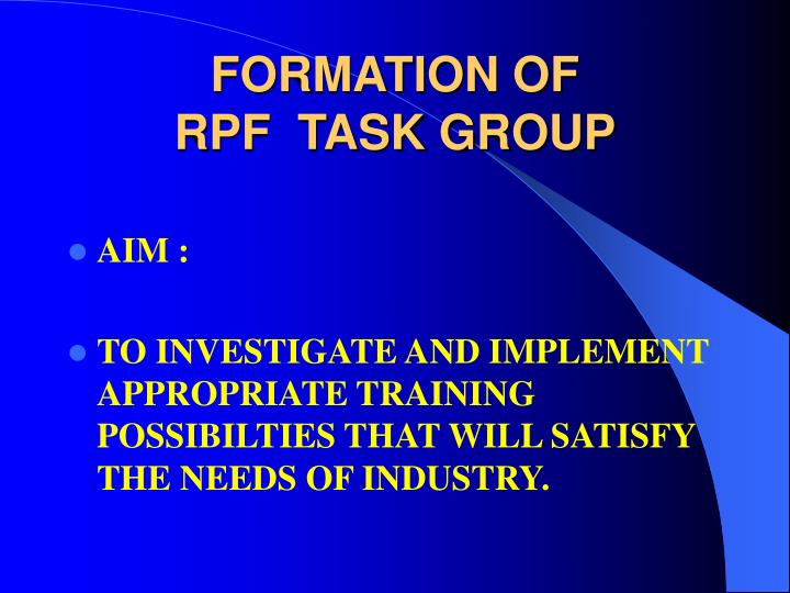 FORMATION OF
