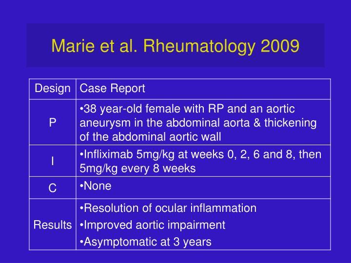 Marie et al. Rheumatology 2009