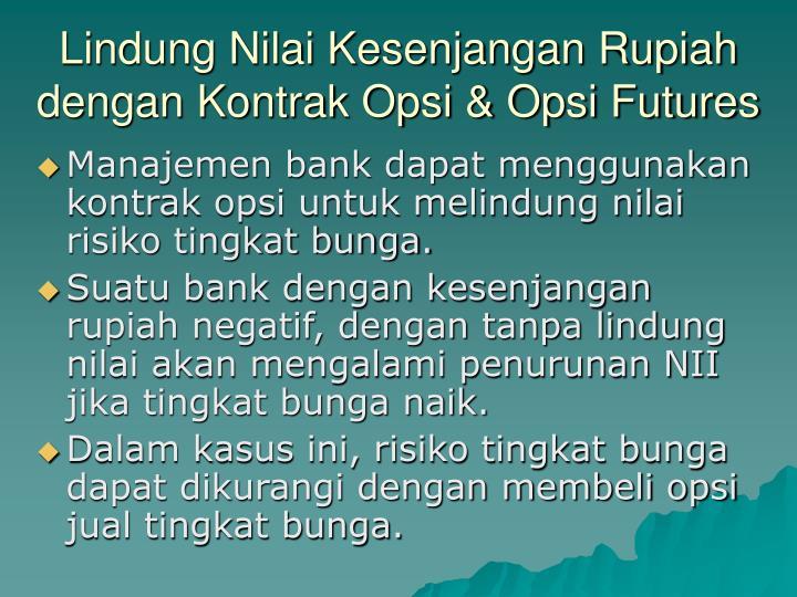 Lindung Nilai Kesenjangan Rupiah dengan Kontrak Opsi & Opsi Futures