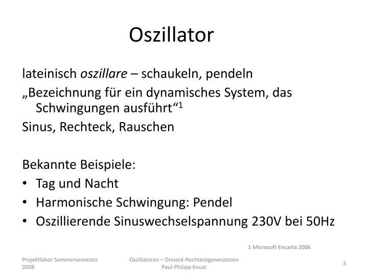Oszillator