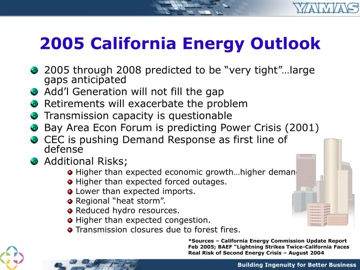 2005 California Energy Outlook