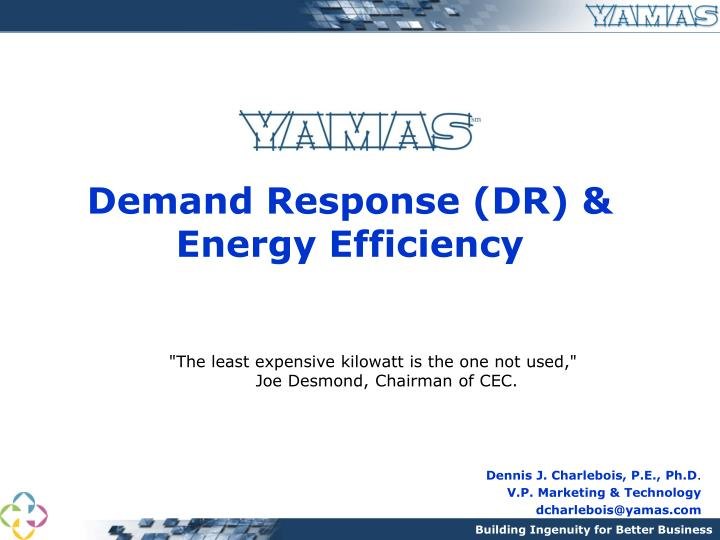 demand response dr energy efficiency