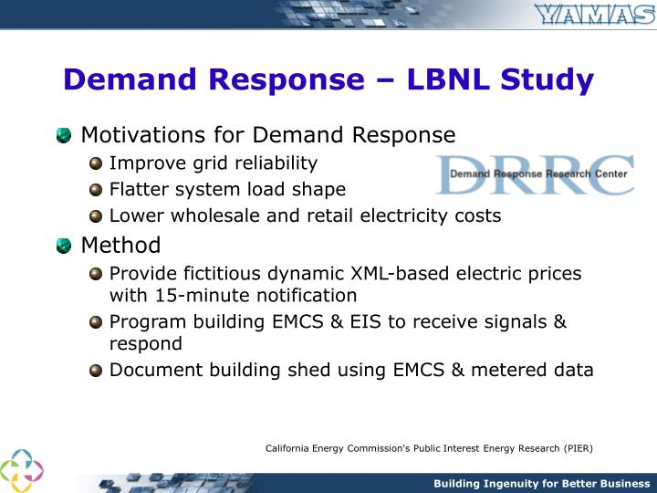 Demand Response – LBNL Study