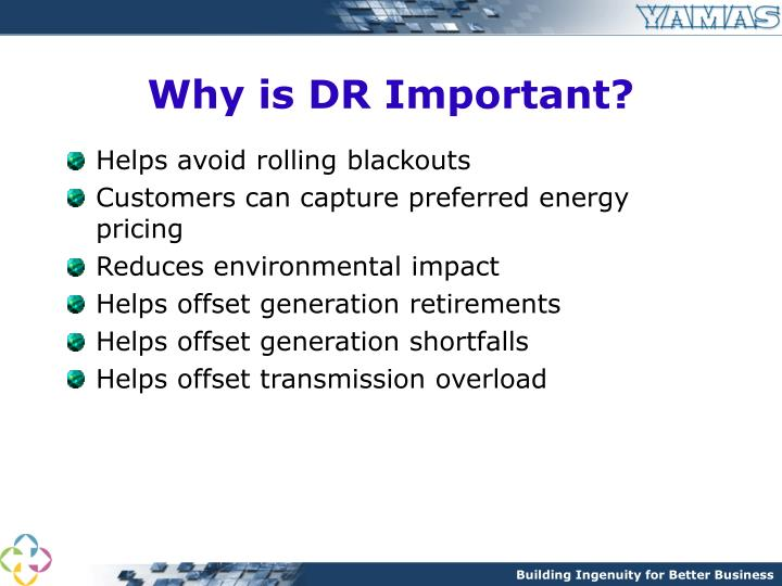 Why is DR Important?
