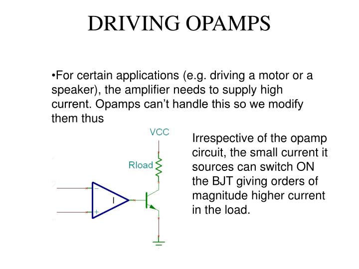 DRIVING OPAMPS