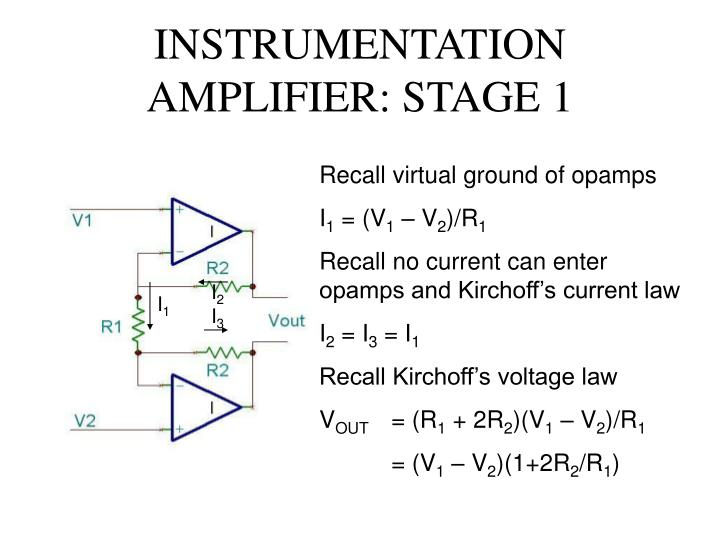 INSTRUMENTATION AMPLIFIER: STAGE 1