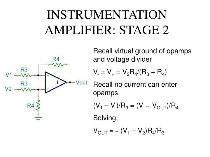 INSTRUMENTATION AMPLIFIER: STAGE 2