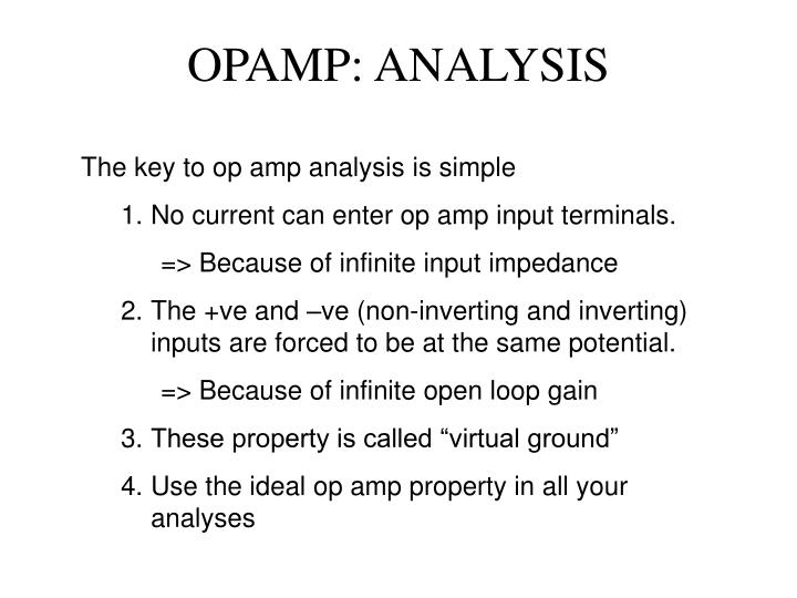 OPAMP: ANALYSIS