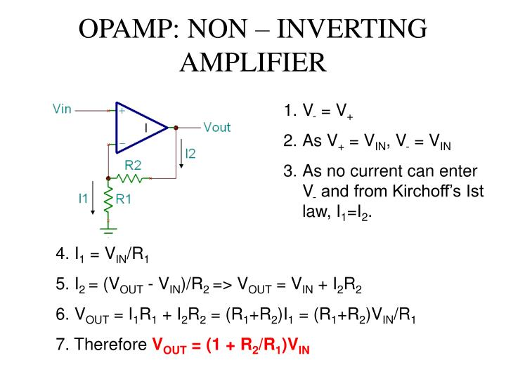 OPAMP: NON – INVERTING AMPLIFIER