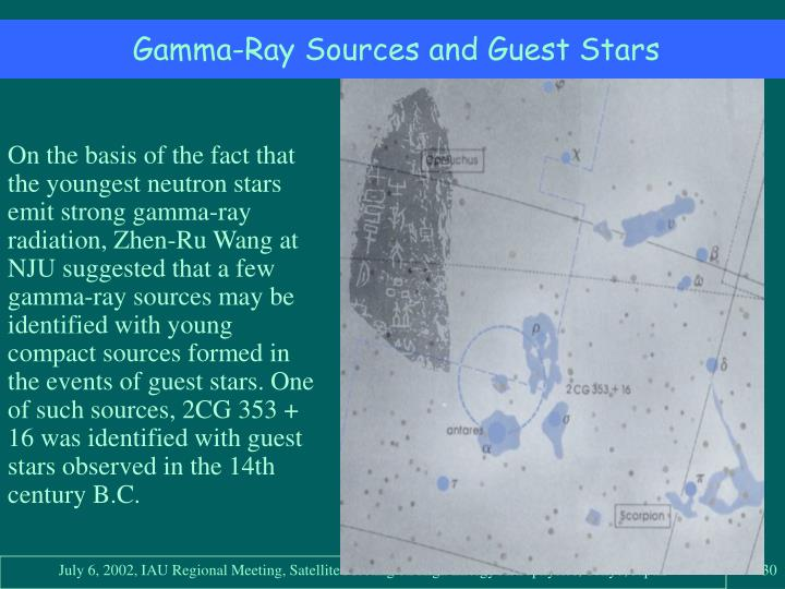 Gamma-Ray Sources and Guest Stars