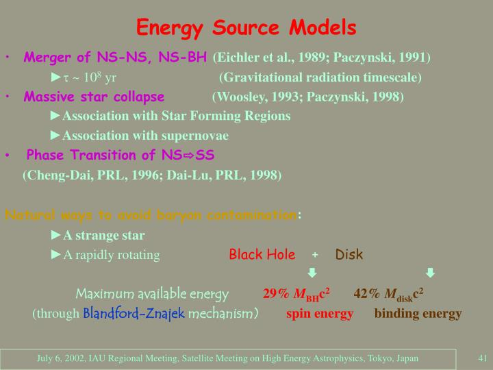 Energy Source Models