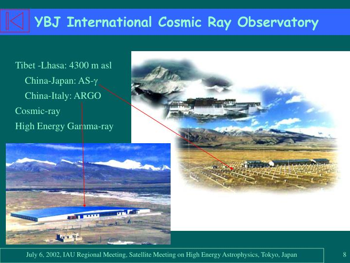 YBJ International Cosmic Ray Observatory