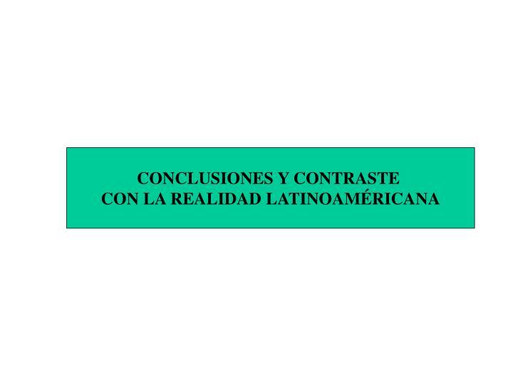 CONCLUSIONES Y CONTRASTE
