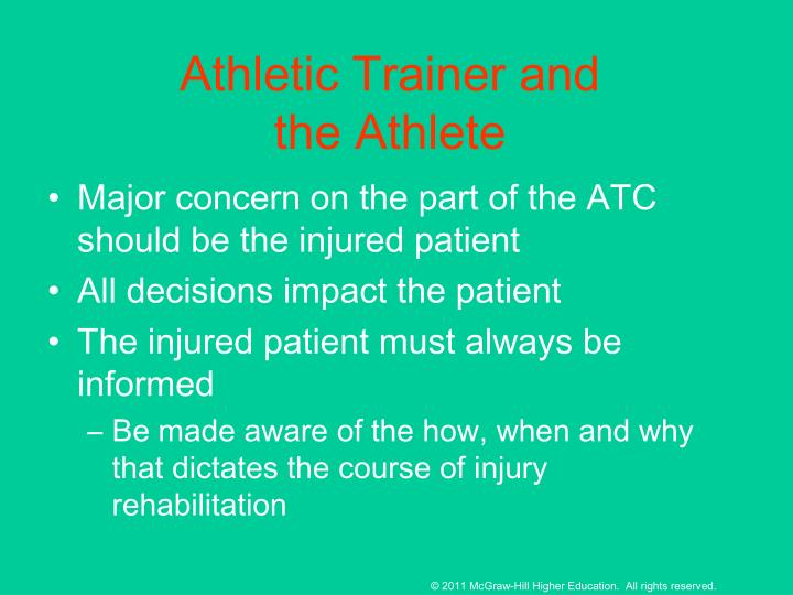 Athletic Trainer and