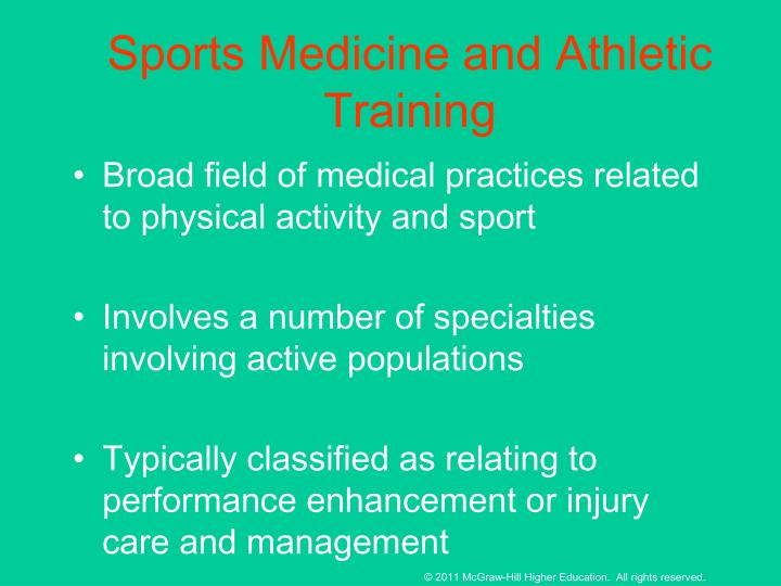 Sports Medicine and Athletic Training