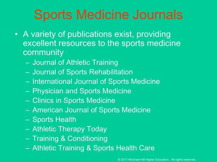Sports Medicine Journals