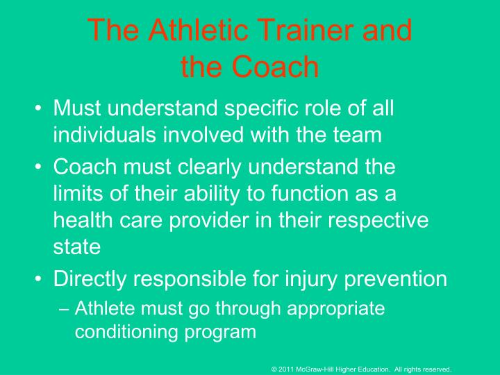 The Athletic Trainer and