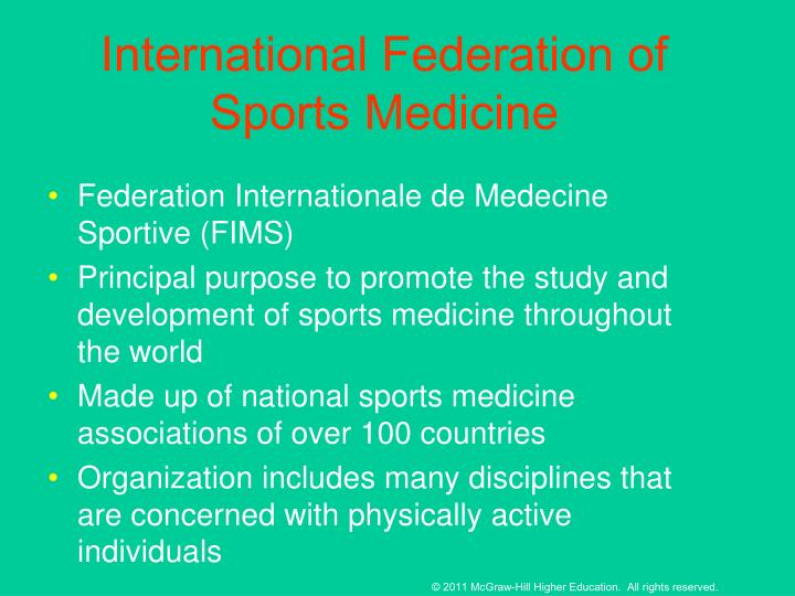 International Federation of Sports Medicine