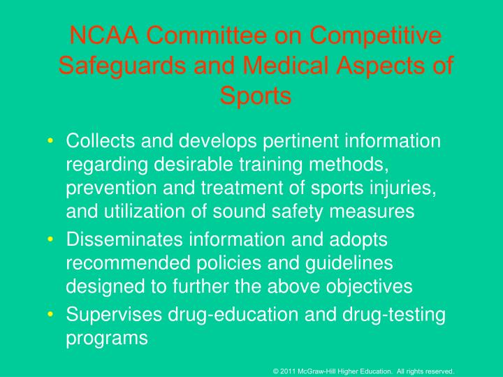 NCAA Committee on Competitive Safeguards and Medical Aspects of Sports