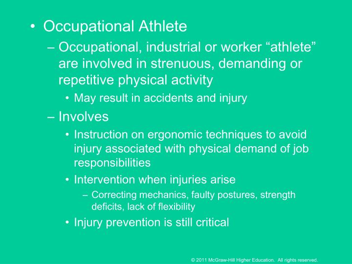Occupational Athlete