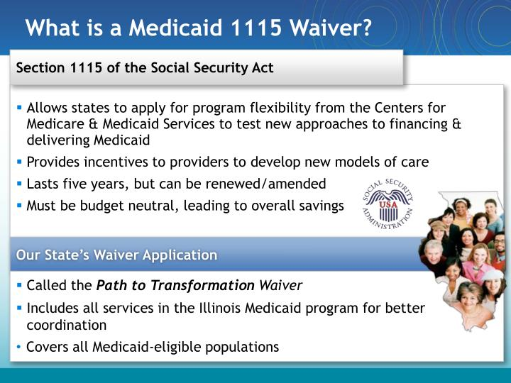 What is a medicaid 1115 waiver